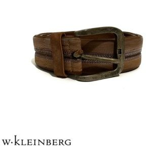 W. Kleinberg Luxury Mens Vintage Leather Belt